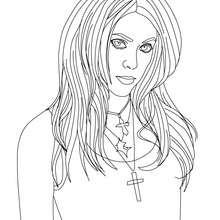 Dibujo para pintar de Shakira pintado - Dibujos para Colorear y Pintar - Dibujos para colorear FAMOSOS - SHAKIRA para colorear