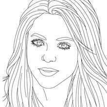 Dibujo para colorear de Shakira sonriendo - Dibujos para Colorear y Pintar - Dibujos para colorear FAMOSOS - SHAKIRA para colorear