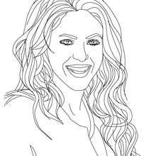 Dibujo de Shakira para colorear y pintar gratis - Dibujos para Colorear y Pintar - Dibujos para colorear FAMOSOS - SHAKIRA para colorear