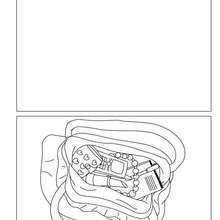 Dibujo para colorear : Tarjeta  la bolsa de Mama