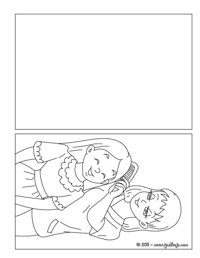 Dibujos para colorear tarjeta del dia de la madre hija con su mama ...
