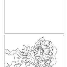 Dibujo para colorear : Tarjeta  flores para mama