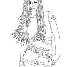 Dibujo para colorear : Avril Lavigne
