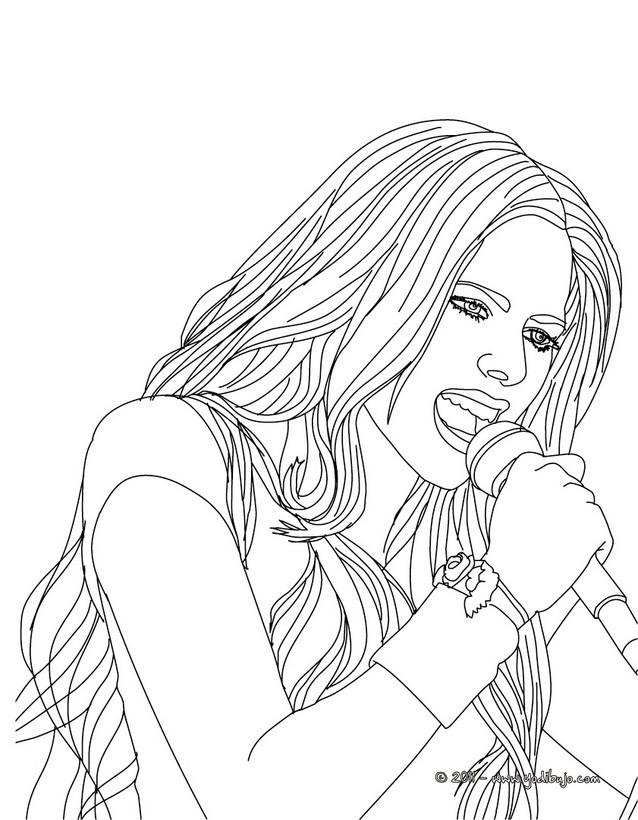 Dibujos para colorear avril lavigne cantando   es.hellokids.com