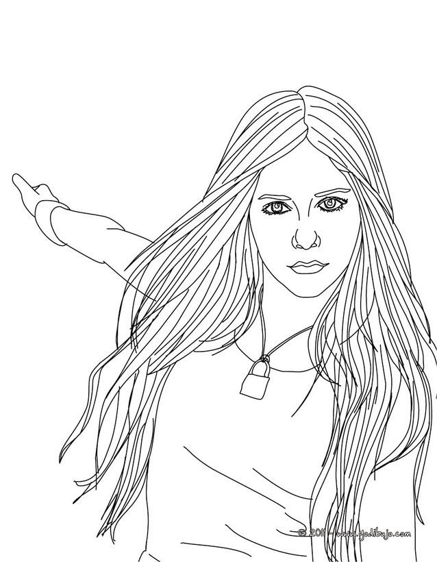 Dibujos Para Colorear Avril Lavigne Bailando Es