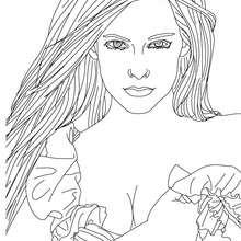 Dibujo para colorear Avril Lavigne hermosa - Dibujos para Colorear y Pintar - Dibujos para colorear FAMOSOS - AVRIL LAVIGNE para colorear