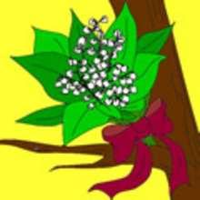 flor, Tarjetas para colorear DIA DE LOS TRABAJADORES