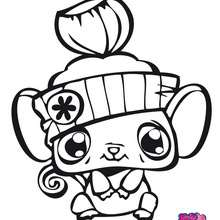Dibujo para colorear : RATON littlest pet shop