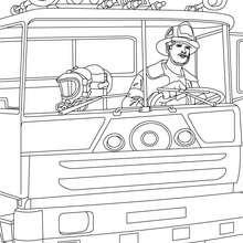 Dibujo de un camión de bomberos para pintar - Dibujos para Colorear y Pintar - Dibujos para colorear PROFESIONES Y OFICIOS - Dibujos de BOMBEROS para colorear