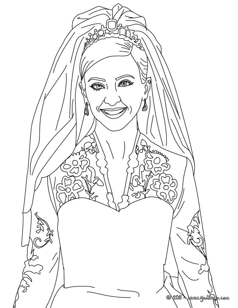 Dibujos para colorear retrato de la princesa kate middleton - es ...