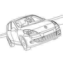 Dibujo para colorear y pintar el nuevo  coche RENAULT SCENIC - Dibujos para Colorear y Pintar - Dibujos para colorear VEHICULOS - Dibujos para colorear COCHES - Dibujos RENAULT SCENIC para colorear