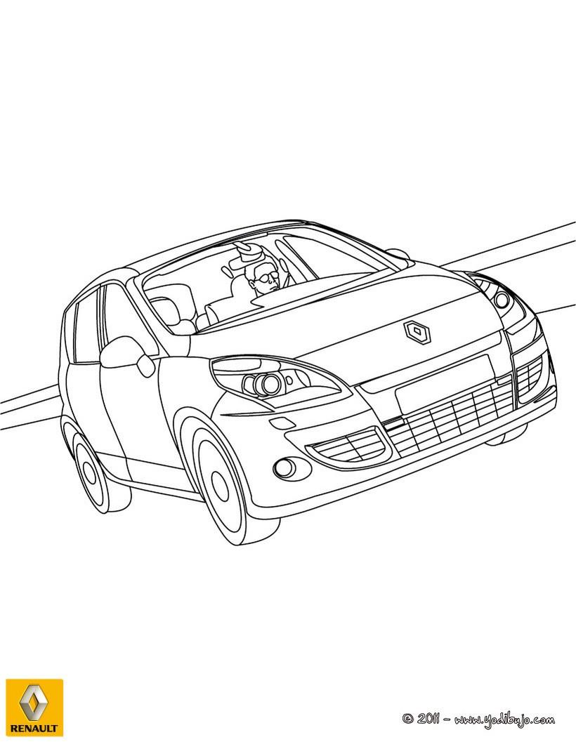 Dibujo para colorear : el nuevo  coche RENAULT SCENIC