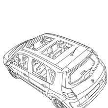 Dibujo para colorear : el techo del RENAULT SCENIC