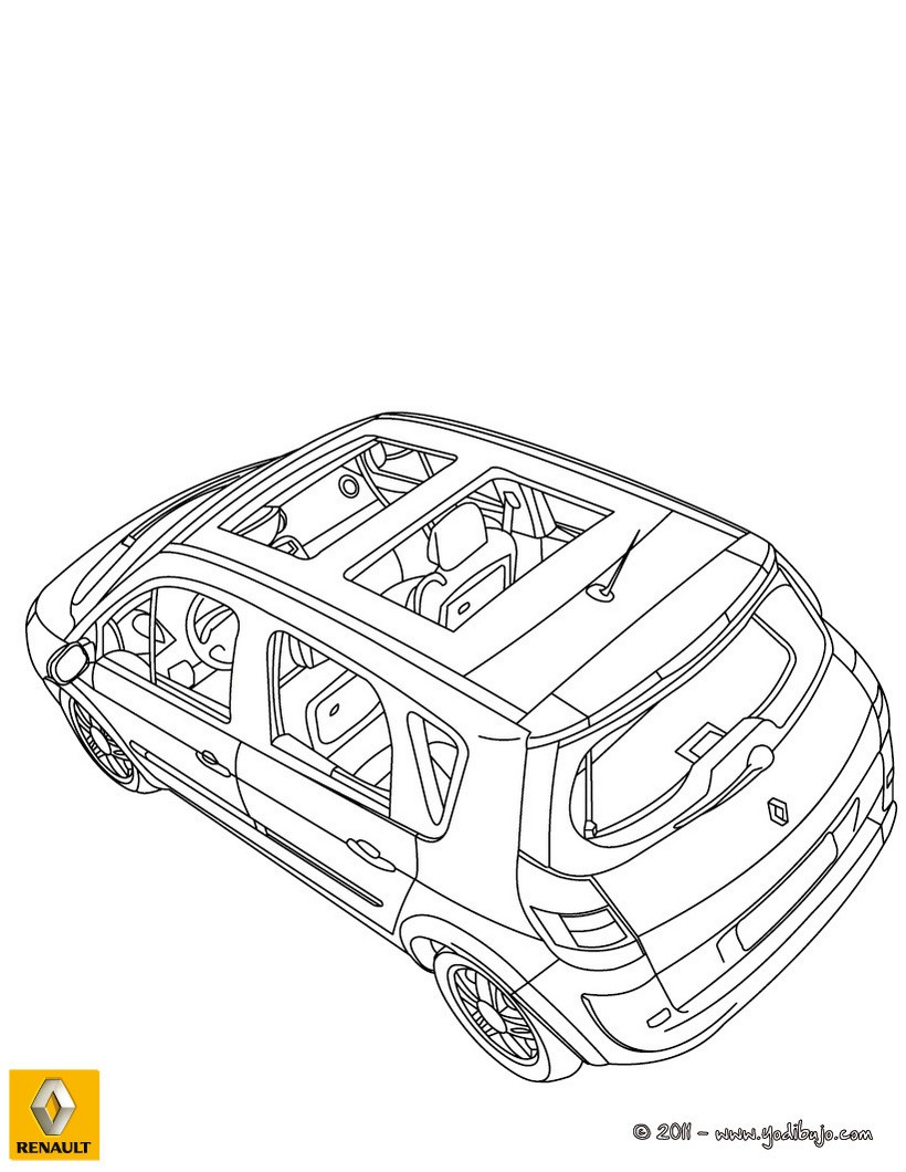 Dibujos para colorear el interior del coche scenic renault - es ...