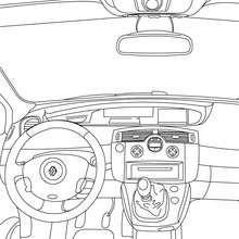 Dibujo para colorear el interior del coche SCENIC RENAULT - Dibujos para Colorear y Pintar - Dibujos para colorear VEHICULOS - Dibujos para colorear COCHES - Dibujos RENAULT SCENIC para colorear