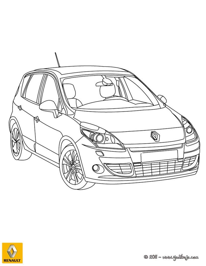 Dibujo para colorear : coche RENAULT SCENIC