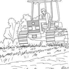 Dibujo del tractor del agricultor para colorear - Dibujos para Colorear y Pintar - Dibujos para colorear PROFESIONES Y OFICIOS - Dibujos de AGRICULTOR para colorear