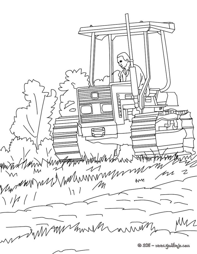 Dibujos para colorear tractor del agricultor - es.hellokids.com