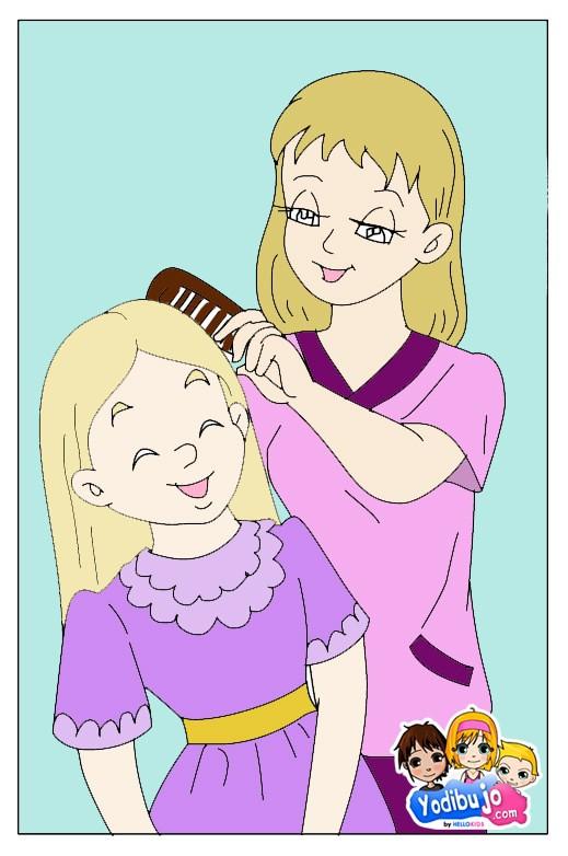 ... infantil de una mama con su hija - Dibujos infantiles DIA DE LA MADRE