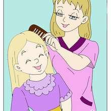 Dibujo infantil de una mama con su hija