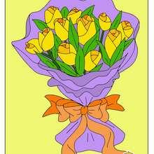 Dibujo de rosas para el dia de la madre - Dibujar Dibujos - Dibujos para INFANTILES - Dibujos infantiles DIA DE LA MADRE