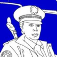 Dibujos de POLICIA para colorear - Dibujos para colorear PROFESIONES Y OFICIOS - Dibujos para Colorear y Pintar