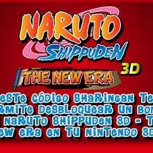 Codigos Sharingan: Códigos secretos para el videojuego Naruto the new era