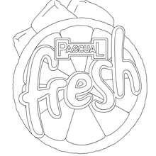 Dibujo para colorear logo PASCUAL FRESH - Dibujos para Colorear y Pintar - Dibujos para colorear FIESTAS - Dibujos para colorear PASCUAL FRESH