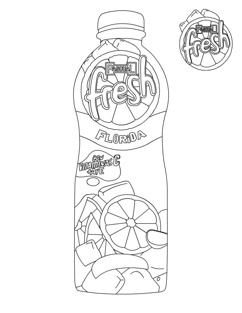Dibujos para colorear botella de pascual fresh - es.hellokids.com