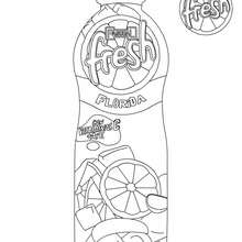 Dibujo para colorear botella de PASCUAL FRESH - Dibujos para Colorear y Pintar - Dibujos para colorear FIESTAS - Dibujos para colorear PASCUAL FRESH