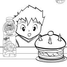 Dibujo para colorear : cumpleaños con PASCUAL FRESH