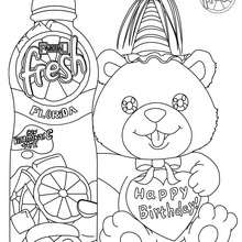 Dibujo para colorear regalo con PASCUAL FRESH - Dibujos para Colorear y Pintar - Dibujos para colorear FIESTAS - Dibujos para colorear PASCUAL FRESH