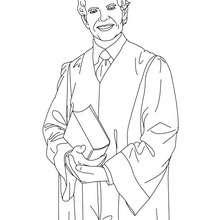 Dibujo para colorear de un abogado - Dibujos para Colorear y Pintar - Dibujos para colorear PROFESIONES Y OFICIOS - Dibujos de ABOGADO para colorear