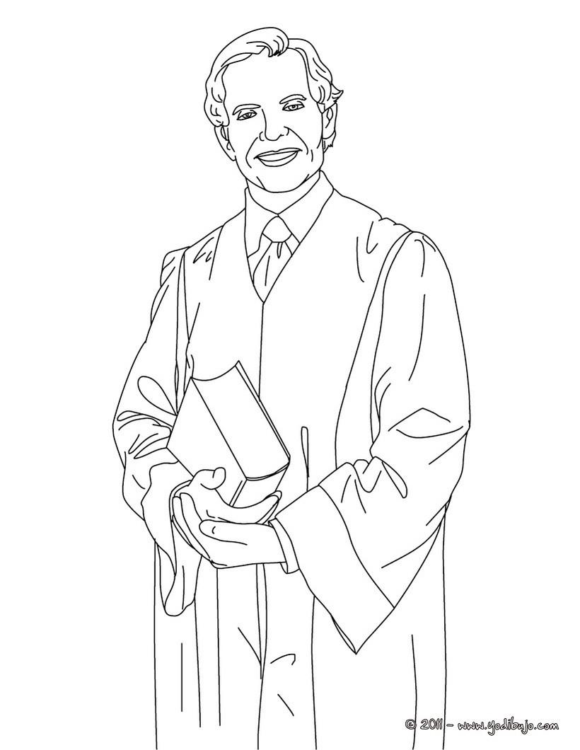 Dibujo para colorear : un abogado