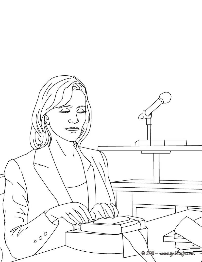 Dibujos para colorear un abogado y un juez - es.hellokids.com