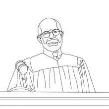 Dibujo del juez escuchando el abogado para colorear - Dibujos para Colorear y Pintar - Dibujos para colorear PROFESIONES Y OFICIOS - Dibujos de ABOGADO para colorear