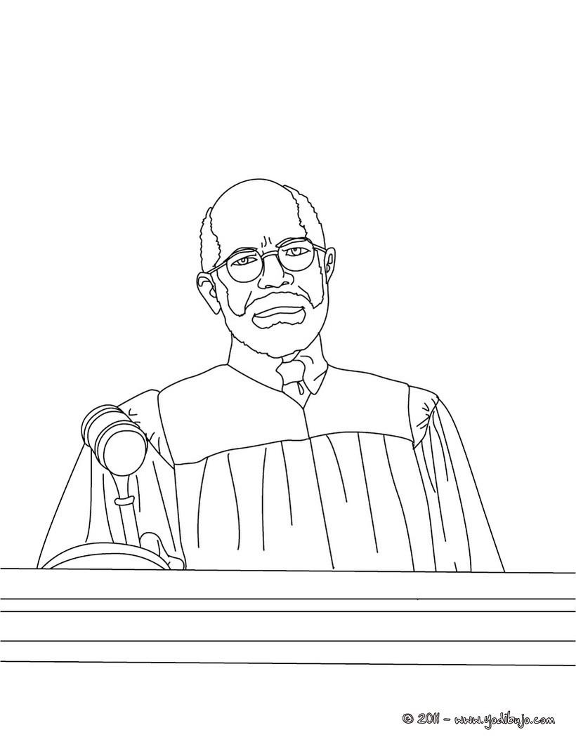 Dibujos para colorear juez escuchando el abogado - es.hellokids.com