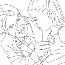 Dibujo de un medico para colorear - Dibujos para Colorear y Pintar - Dibujos para colorear PROFESIONES Y OFICIOS - Dibujos de MEDICO para colorear