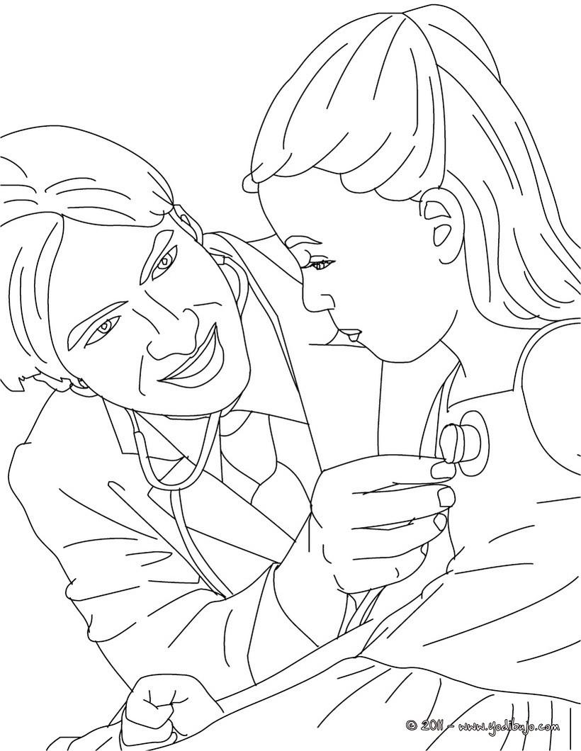 Dibujos para colorear un cirujano - es.hellokids.com
