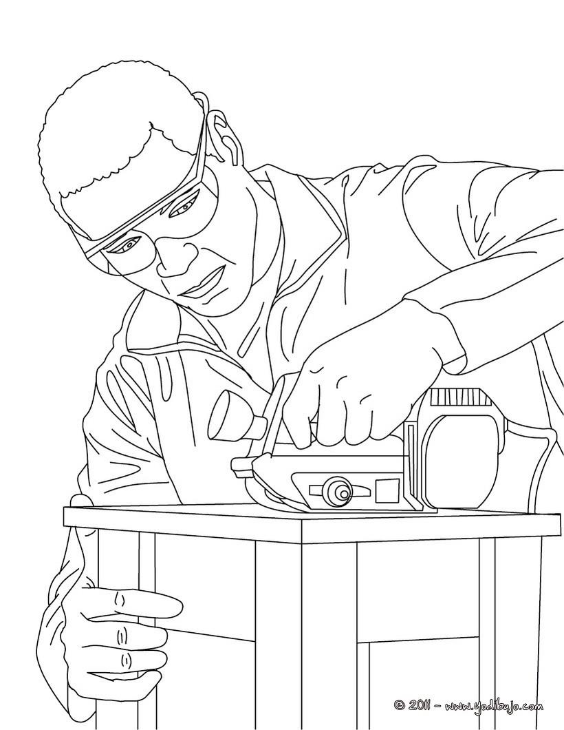 Dibujos para colorear colorea las herramientas - es.hellokids.com