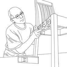 Dibujo de carpintero para colorear - Dibujos para Colorear y Pintar - Dibujos para colorear PROFESIONES Y OFICIOS - Dibujo de CARPINTERO para colorear