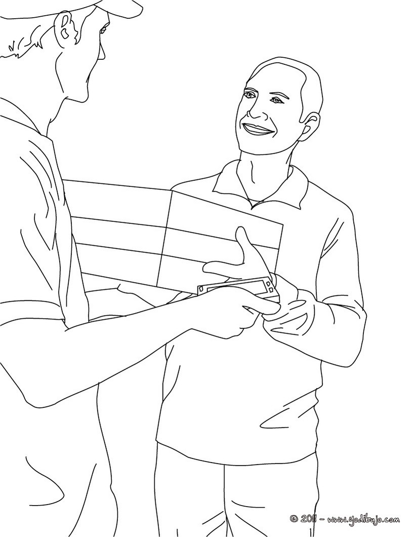 Dibujos para colorear profesiones y oficios - es.hellokids.com