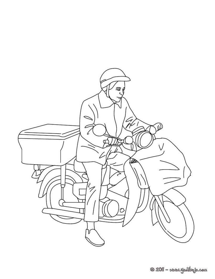 Moto : Dibujos para Colorear, Juegos Gratuitos, Dibujo para Niños ...