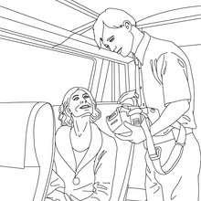 Dibujo para colorear : controlador de ferrocarril