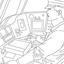 Dibujo para colorear el conductor de ferrocarril - Dibujos para Colorear y Pintar - Dibujos para colorear PROFESIONES Y OFICIOS - Dibujos TRABAJADORES DE FERROCARRIL para colorear