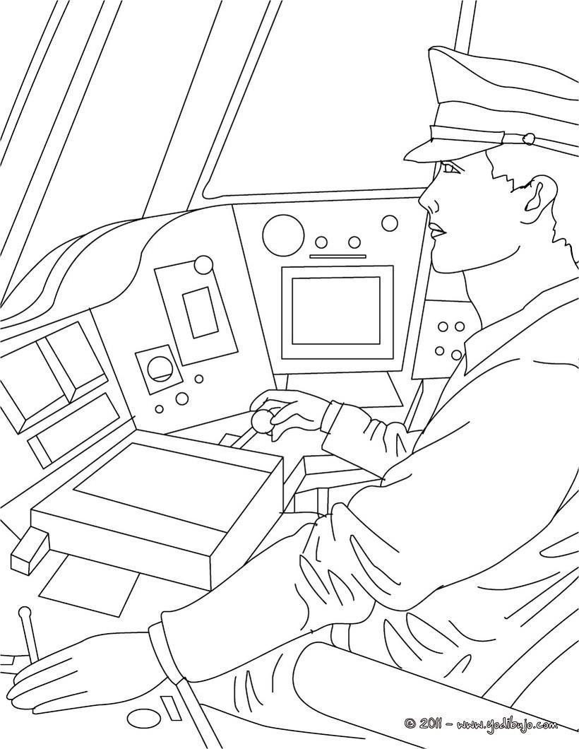 Dibujos Para Colorear El Conductor De Ferrocarril Es