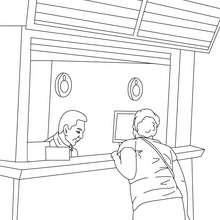 Dibujo para colorear : un agente de RENFE
