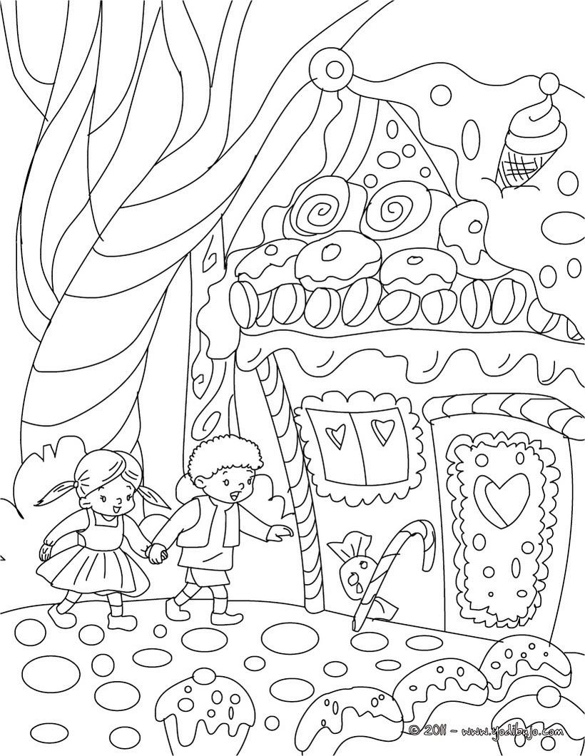 Dibujos para colorear cuento hansel y gretel - es.hellokids.com