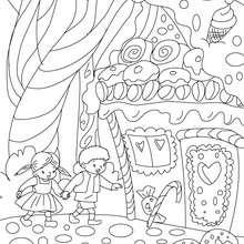 Cuento Hansel y Gretel para colorear - Dibujos para Colorear y Pintar - Dibujos de CUENTOS para colorear - Cuentos de los hermanos GRIMM para colorear
