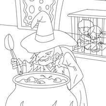 Dibujo para colorear : Hansel y Gretel